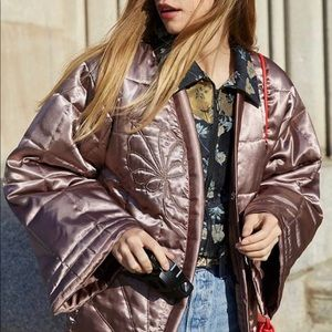 NWT Urban Outfitters KIKO Quilted Mauve Jacket